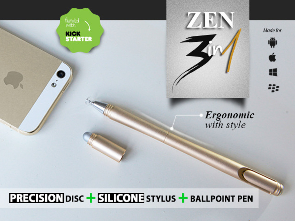 ZEN : Write & Draw Precisely On Touch Screens And Paper's video poster