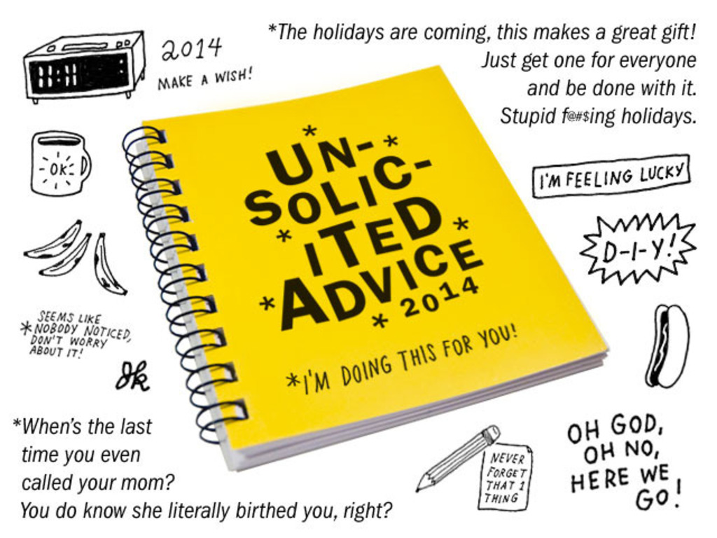 "2014 ""Unsolicited Advice"" Weekly Planner & Journal's video poster"