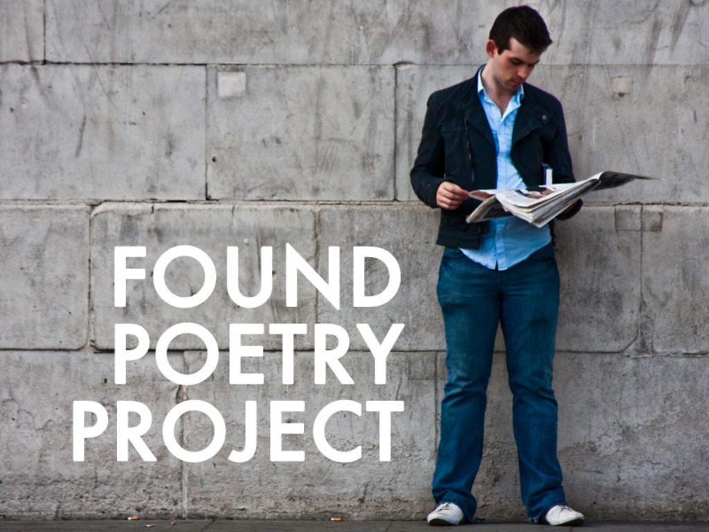 The Found Poetry Project's video poster