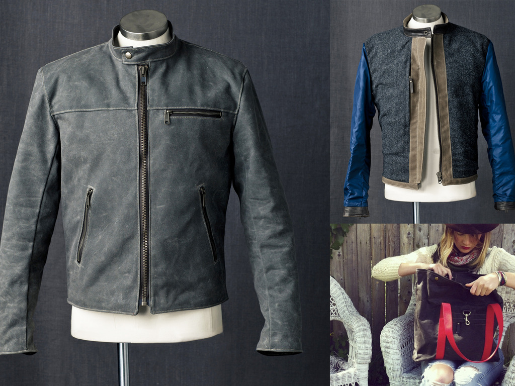 Queen City Dry Goods Waxed Canvas Racer Jacket Launch's video poster