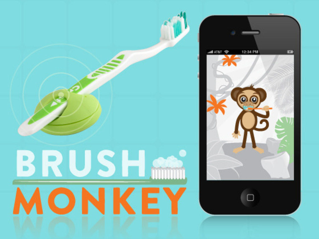 Brush Monkey, Internet-enabled Wireless Toothbrush.'s video poster