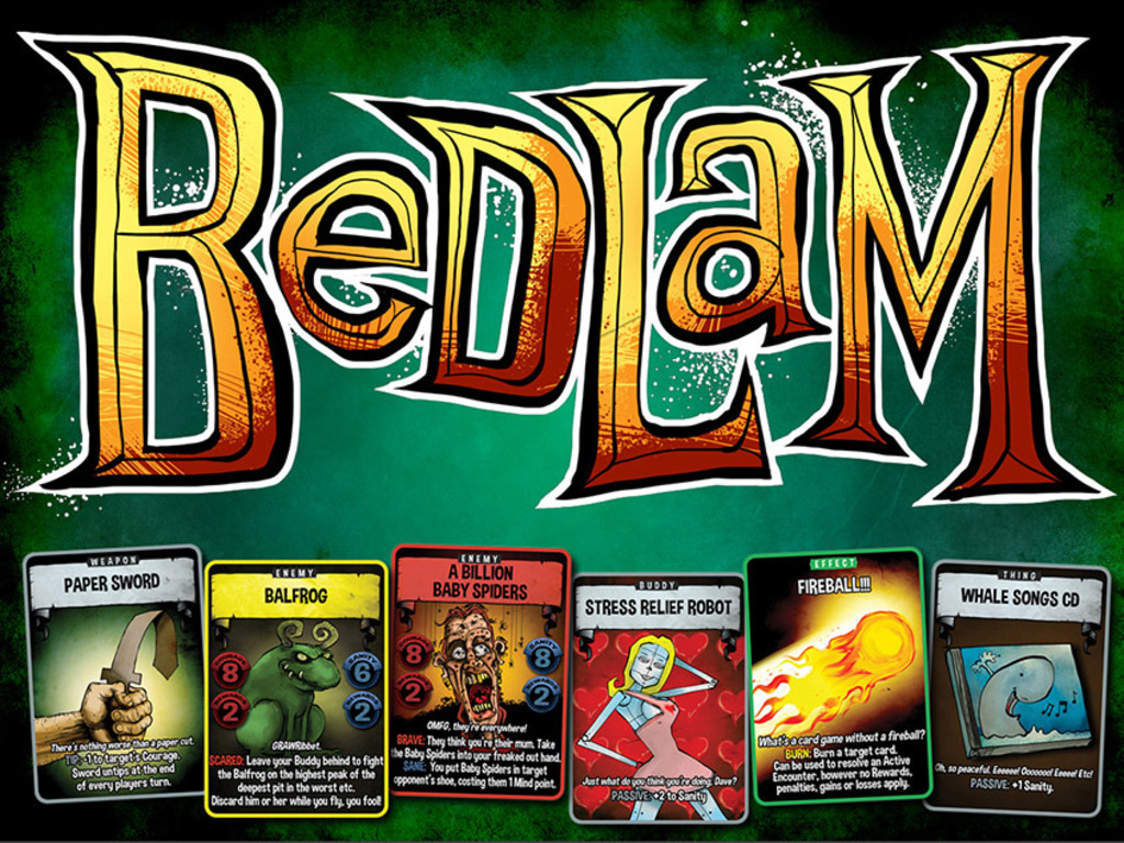 Bedlam - a thoroughly uncooperative card game's video poster