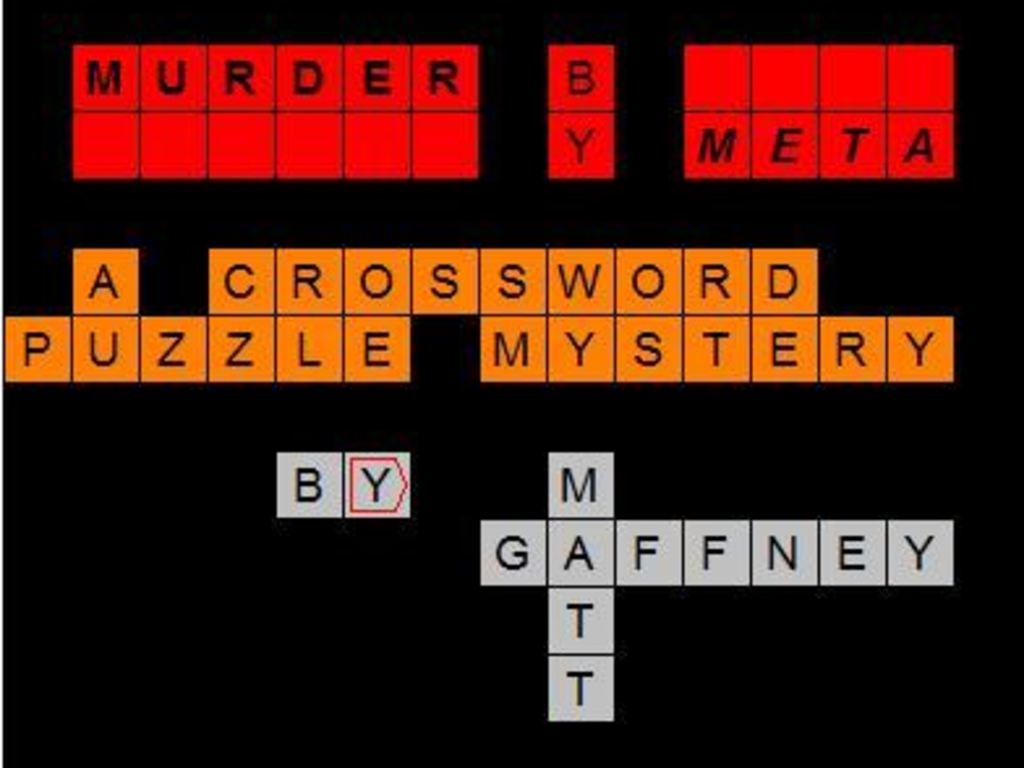 Murder by Meta -- A Crossword Puzzle Mystery's video poster