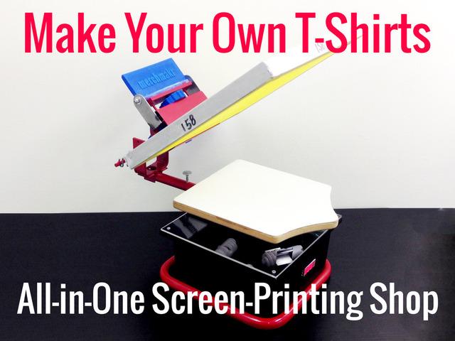 Merchmakr desktop screen printing shop by diy screen for Diy screen printing t shirts
