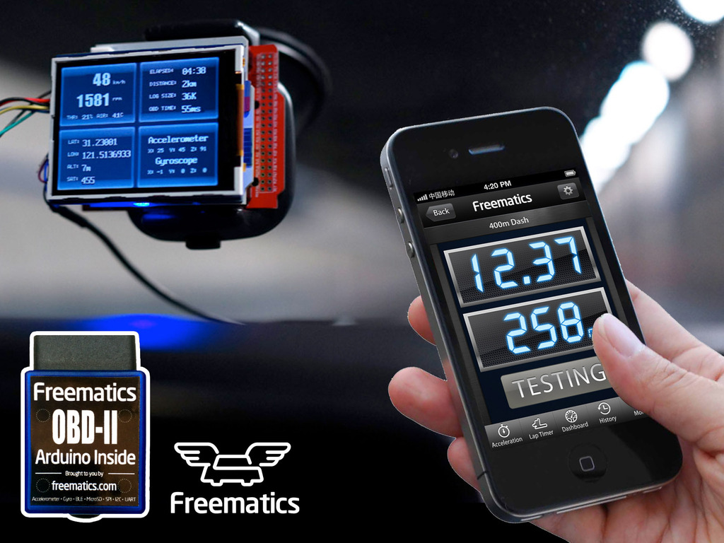 Vehicle telematics with OBD-II & open-source hardware's video poster