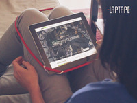 LapTape: The world's tiniest hands-free tablet holder!