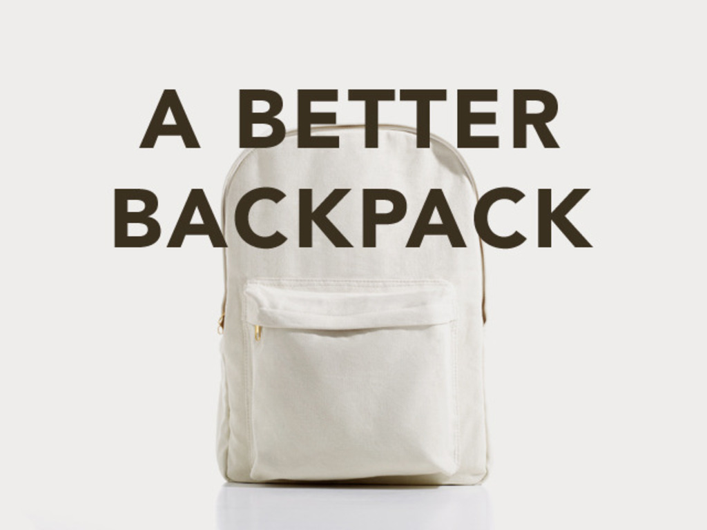 A Better Backpack: Sustainable Design - Sustainable Future's video poster