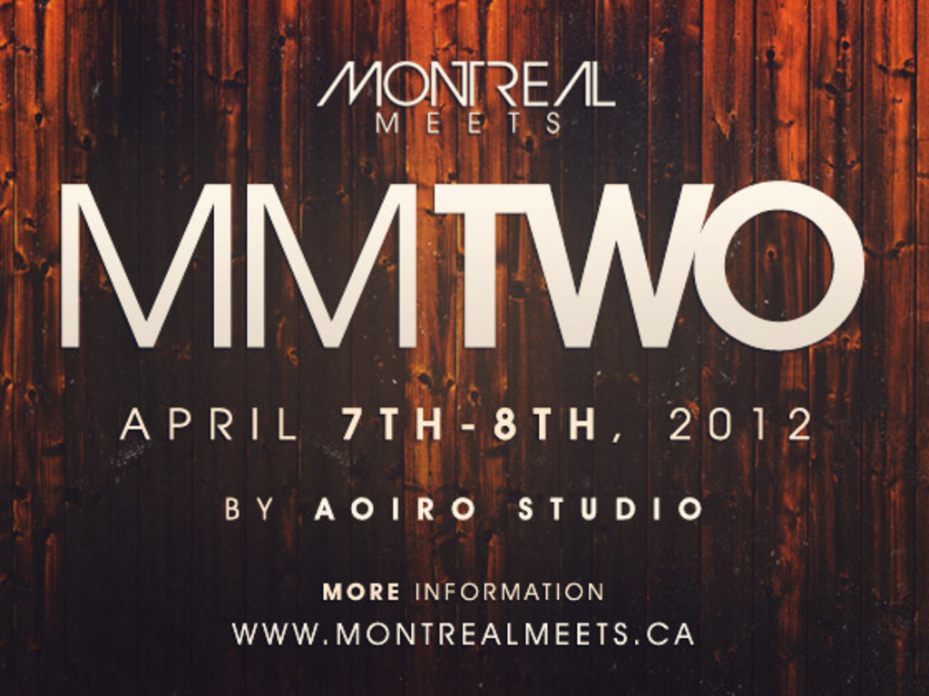 Montreal Meets 2 / MMTWO 2012's video poster
