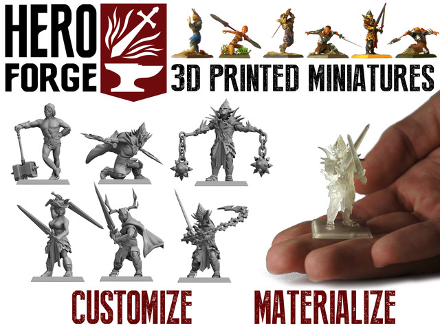 Customizable 3D Printed Tabletop Miniatures