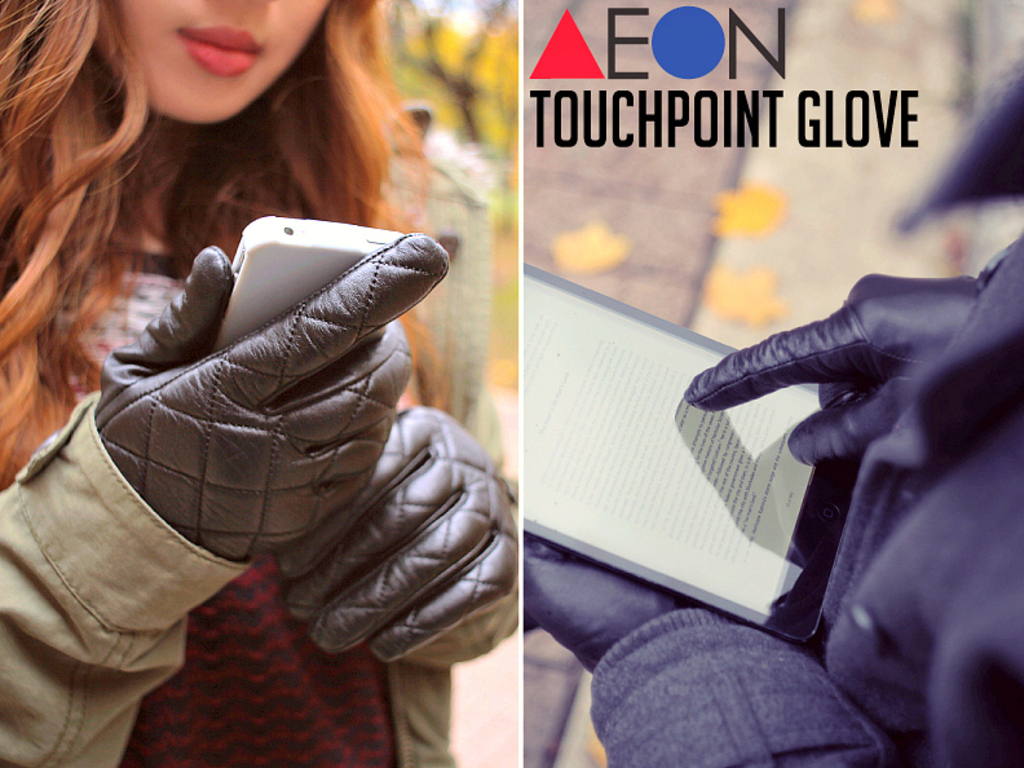 AEON Attire: Finally Leather Gloves as Smart as your Phone's video poster
