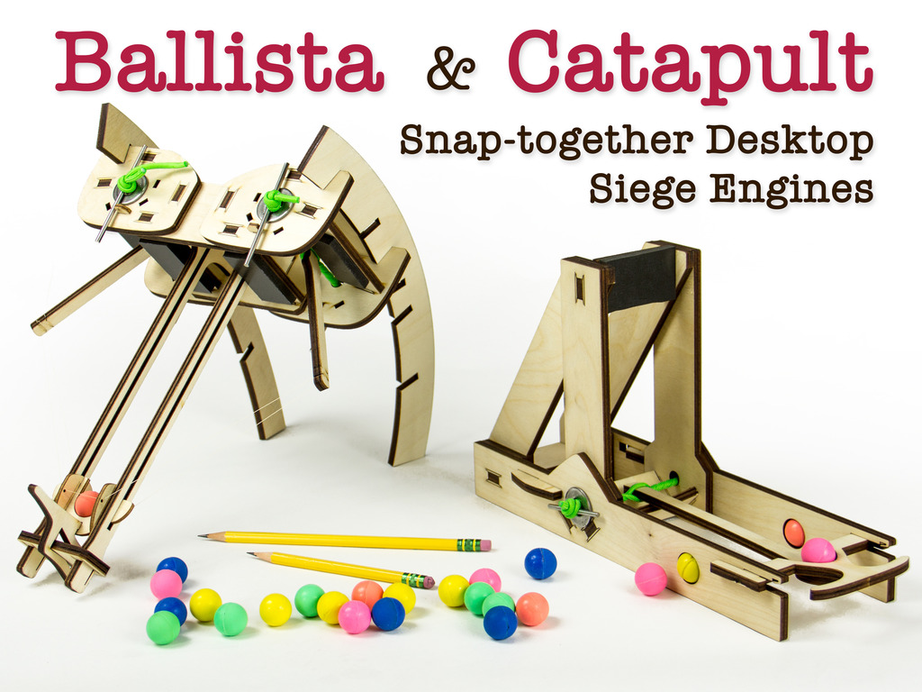 Siege Toys: Desktop Catapults & Ballistas's video poster