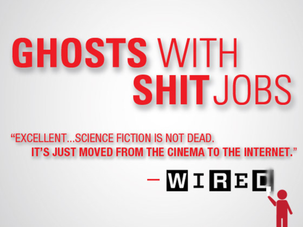 Tour for GHOSTS WITH SHIT JOBS, a Lo-fi Sci-fi Feature's video poster