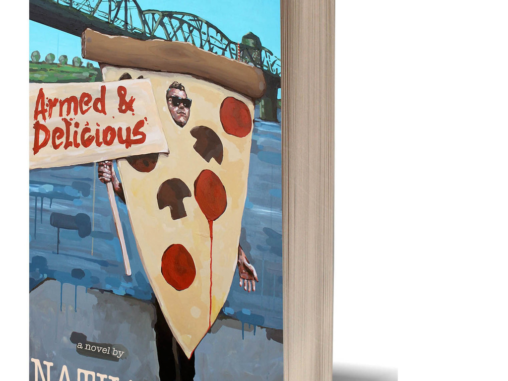 ARMED & DELICIOUS --- a novel about love, crime and pizza.'s video poster