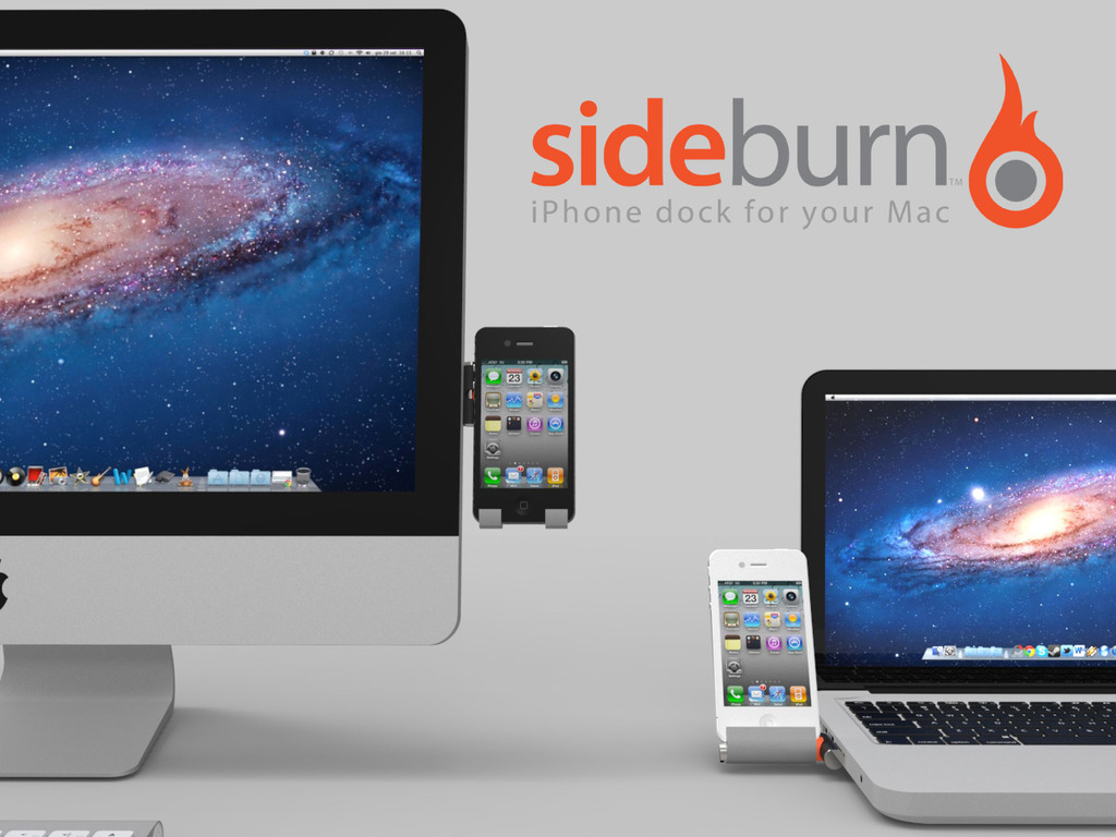 Sideburn - iPhone dock for your iMac & MacBook's video poster