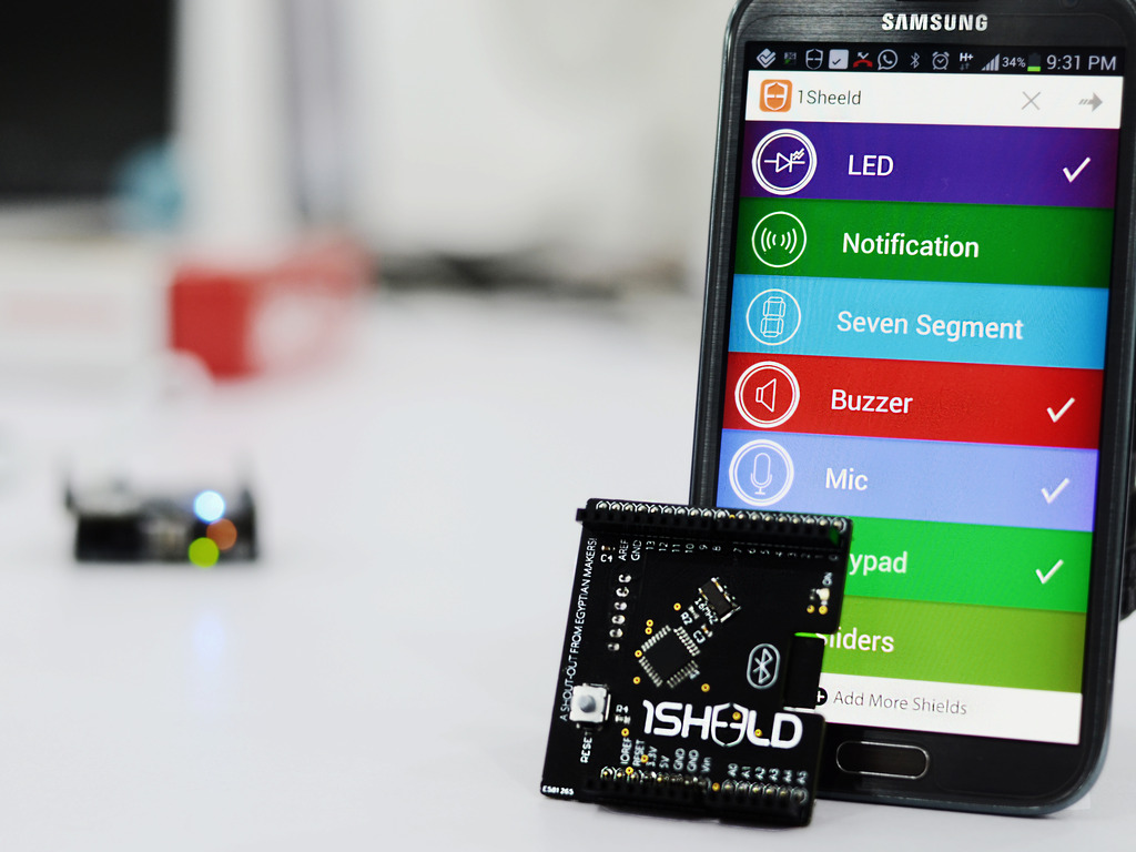 1Sheeld: Replace your Arduino shields with your smartphone!'s video poster