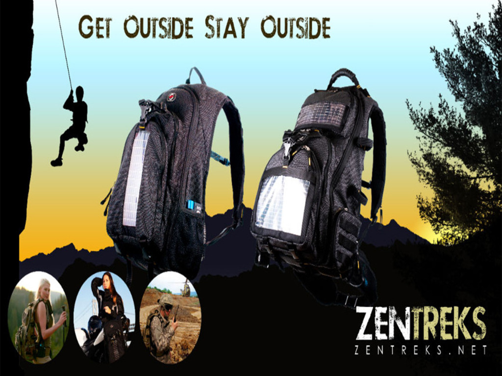 ZenTreks - Solar Powered Backpack/Mobile Power Solutions's video poster