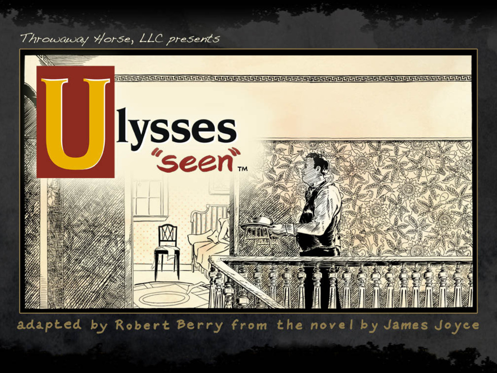 A comic of James Joyce's *Ulysses*'s video poster