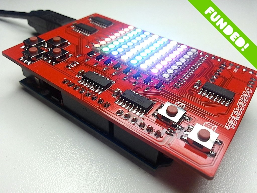 DigiPixel. An LED Game Shield For Your Arduino or Digispark.'s video poster