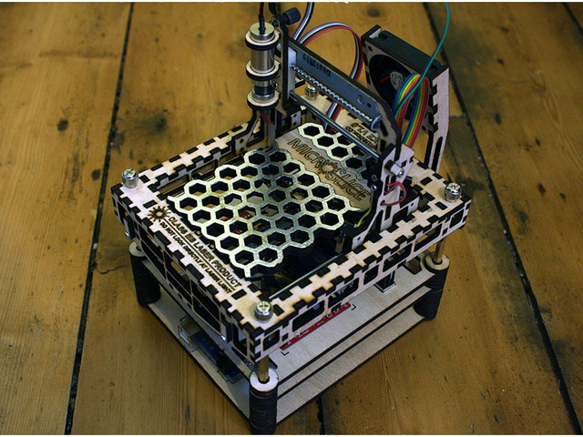 The microslice a mini arduino laser cutter engraver