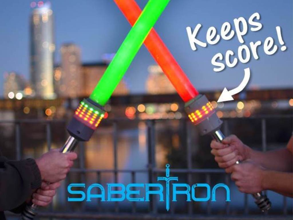 Sabertron: Foam sword play with wireless electronic scoring's video poster