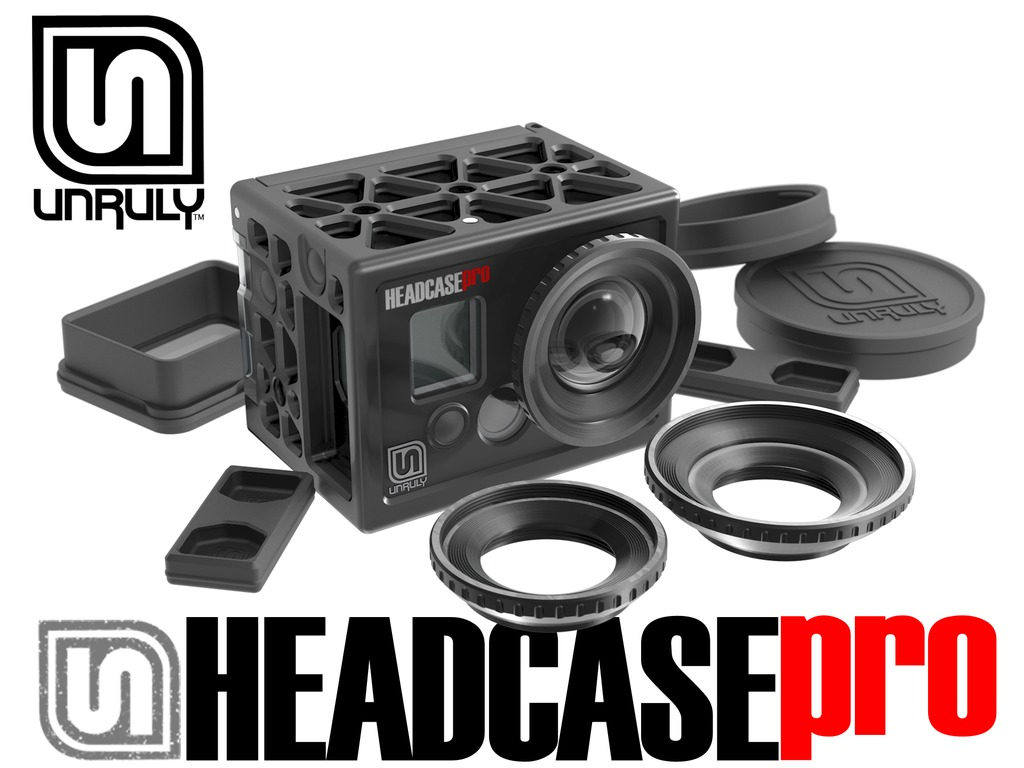 UNRULY - HEADCASE + HEADGEAR Housings for GoPro's video poster