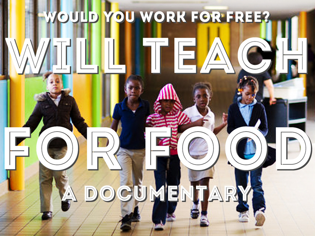 Will Teach For Food's video poster