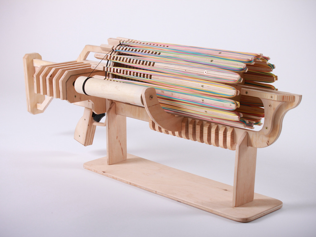 Rubber Band Machine Gun with unique Fast Charger's video poster