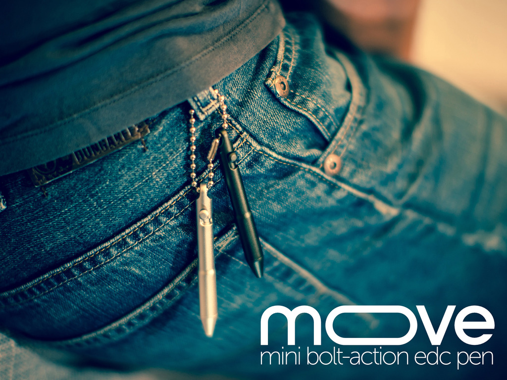 The Move - The Mini Bolt-Action Everyday Carry Pen's video poster
