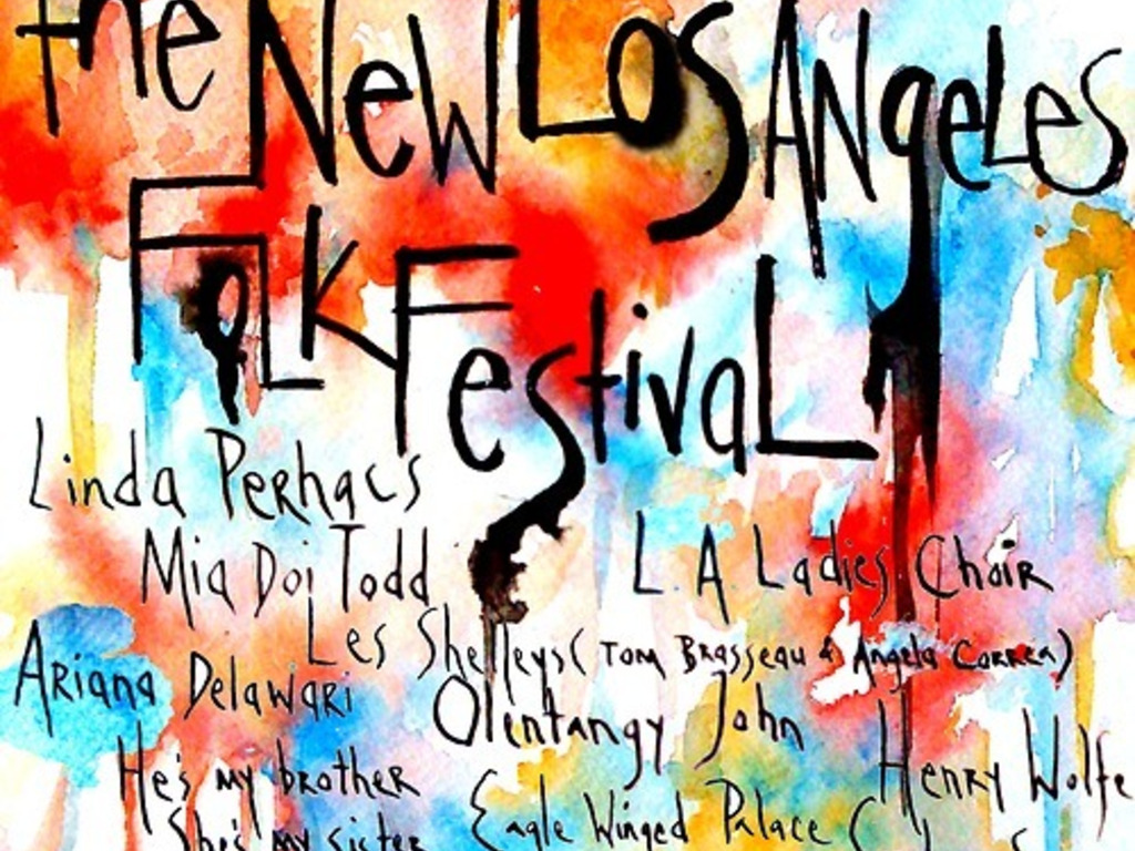The New Los Angeles Folk Festival's video poster