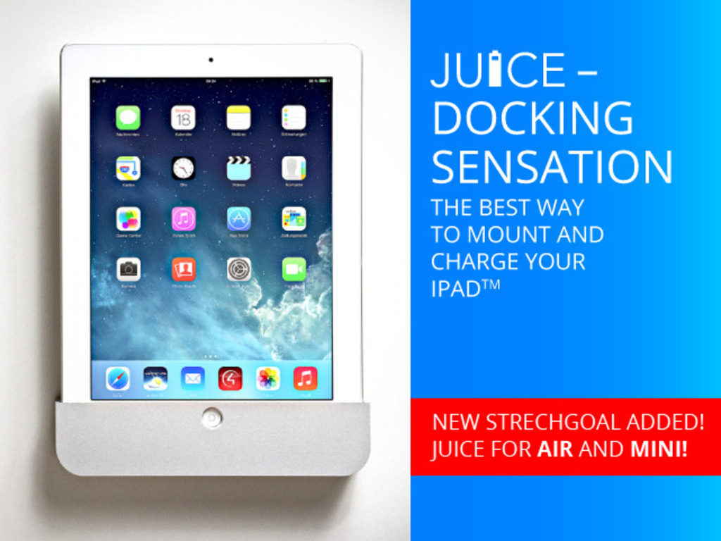 JUICE - ON WALL DOCK FOR iPAD - LIGHTNING AND 30 PIN MODELS's video poster