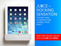 JUICE - ON WALL DOCK FOR iPAD - LIGHTNING AND 30 PIN MODELS