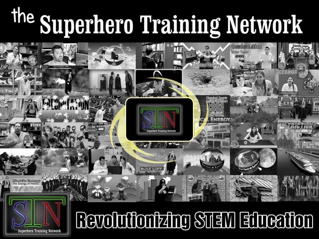 the Superhero Training Network's video poster