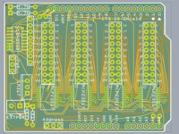 64 I/O Arduino Shield