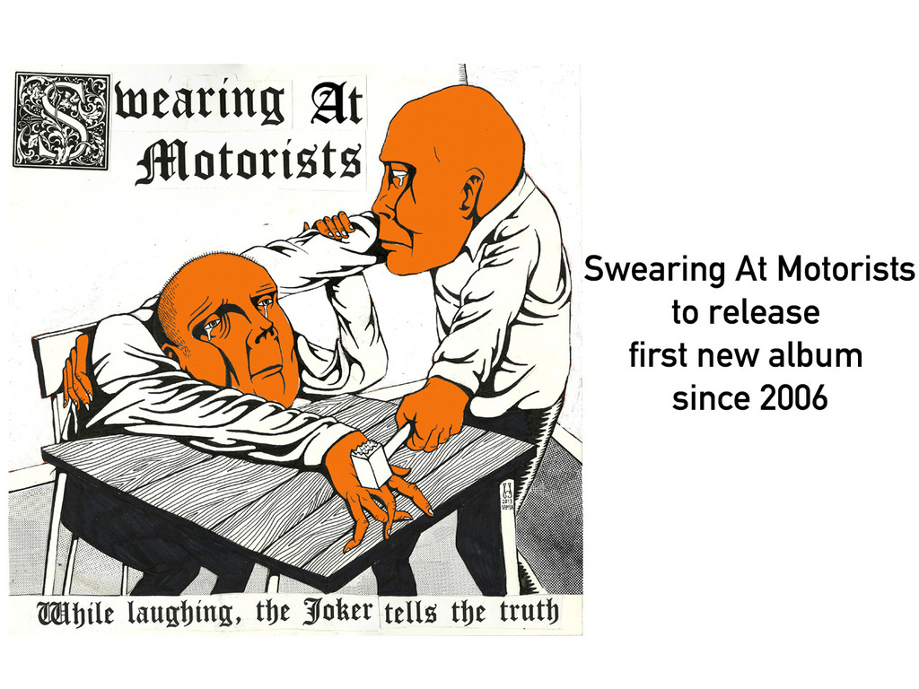 SWEARING AT MOTORISTS return with a new album's video poster