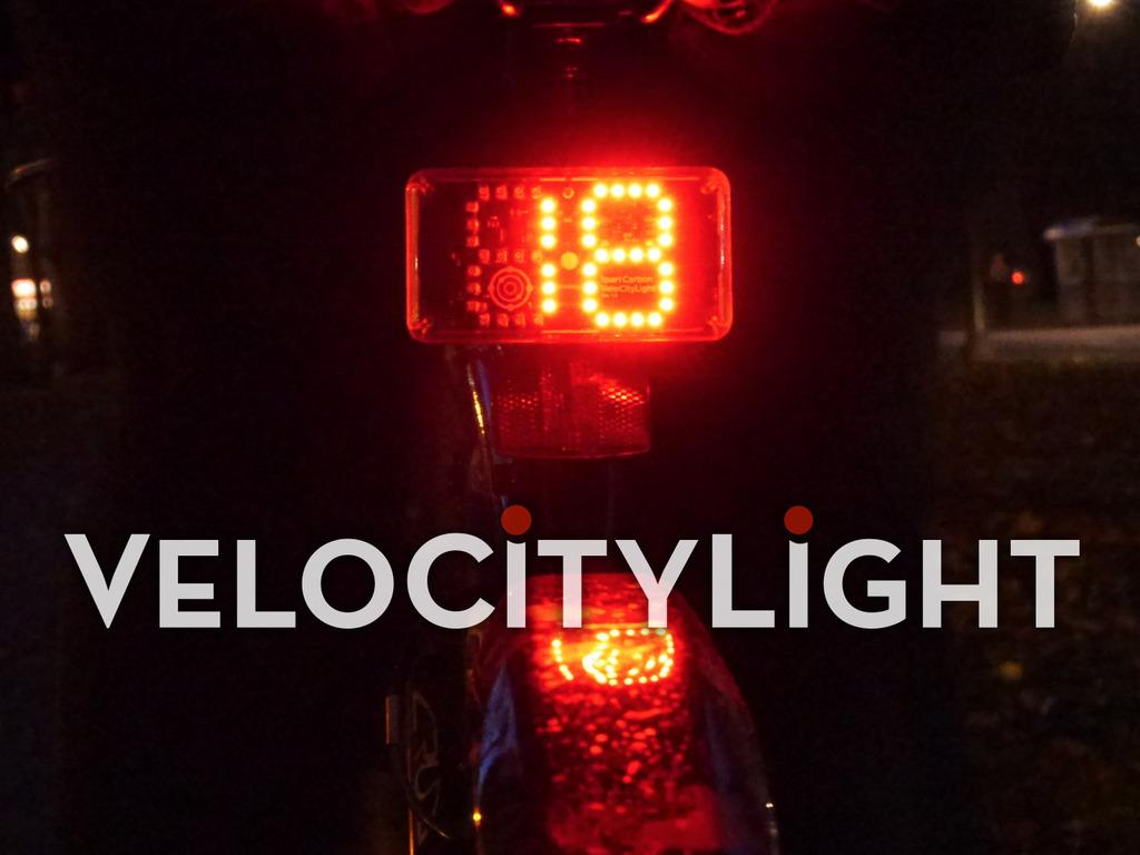 VeloCityLight - The Intelligent Speedometer Bike Light's video poster