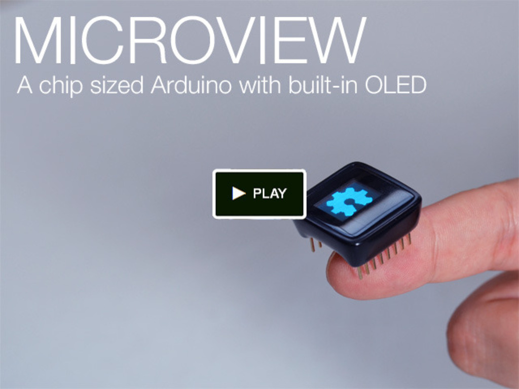 MicroView: Chip-sized Arduino with built-in OLED Display!'s video poster