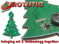 PCB Art:  Christmas Ornaments on Printed Circuit Board