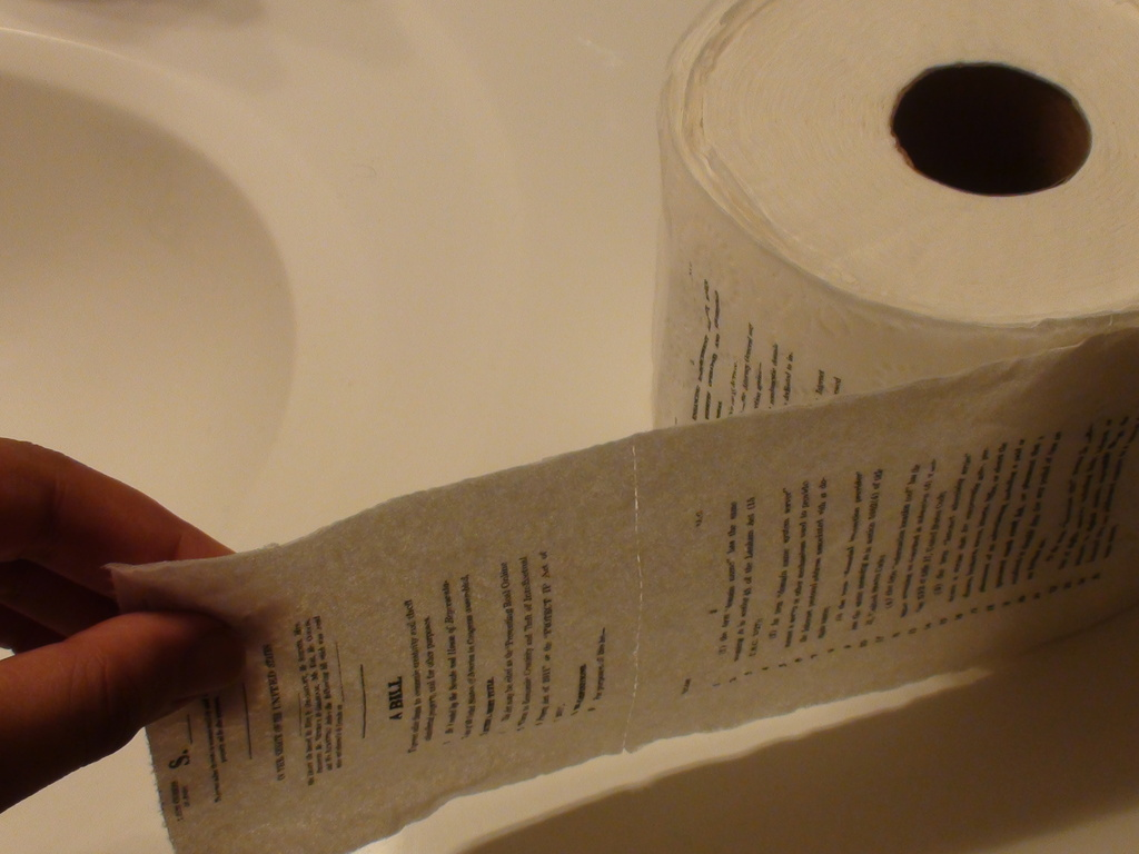 Print the SOPA and PIPA bills on Toilet Paper!'s video poster
