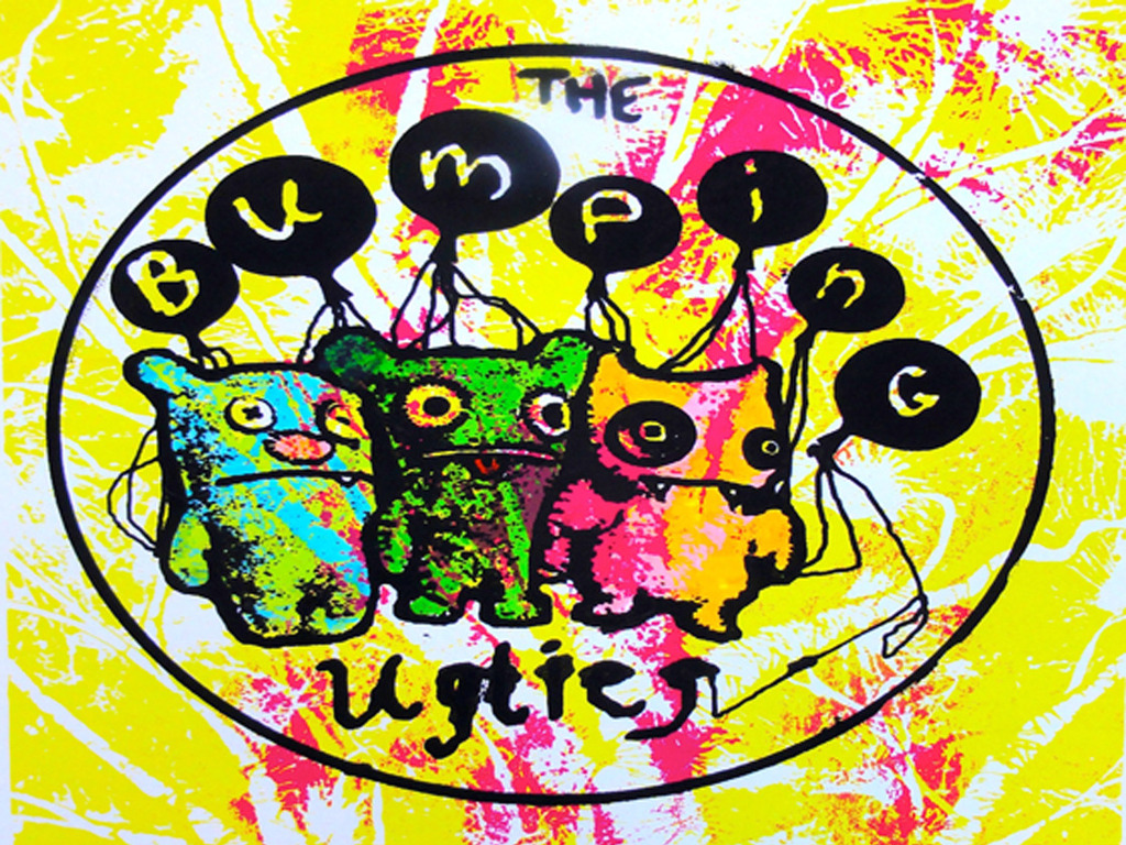 """The Bumping Uglies - """"GLOW IN THE DARK"""" - EP & LP's video poster"""