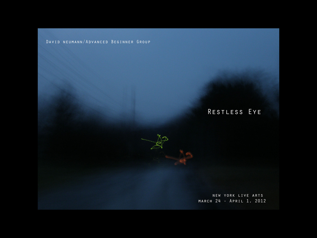 Restless Eye's video poster
