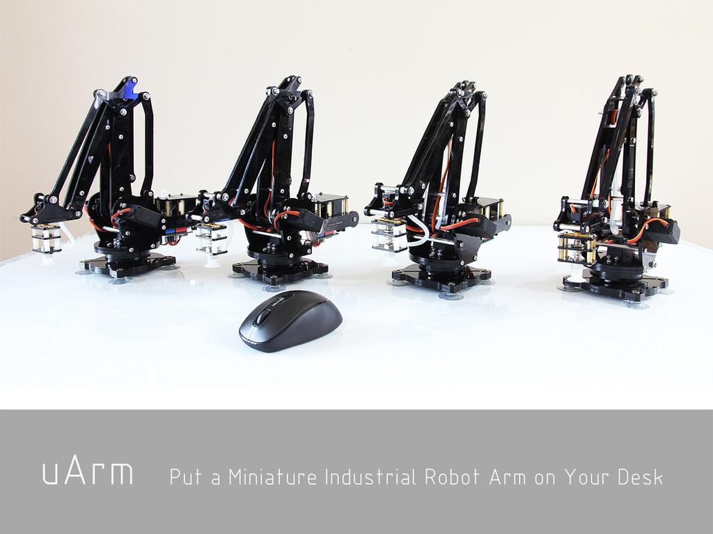 uArm: Put a Miniature Industrial Robot Arm on Your Desk's video poster