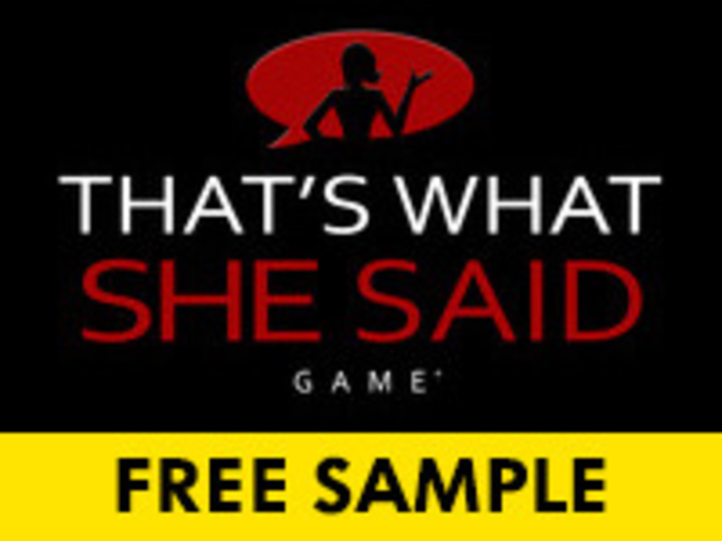 That's What She Said Game ®'s video poster