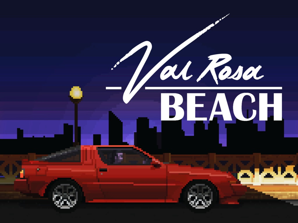 VALROSA BEACH - A 1980's Noir's video poster