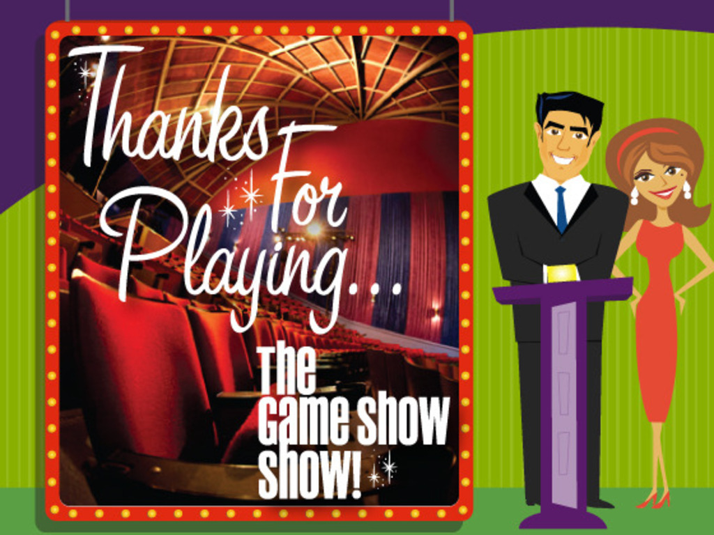 Thanks For Playing: The Game Show Show!'s video poster