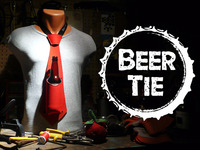 THE BEER TIE:  Neoprene Necktie that Holds your Beer