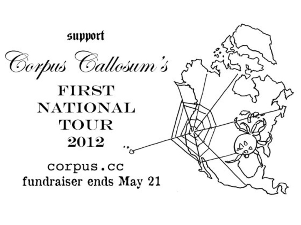 Corpus Callosum's first national tour's video poster