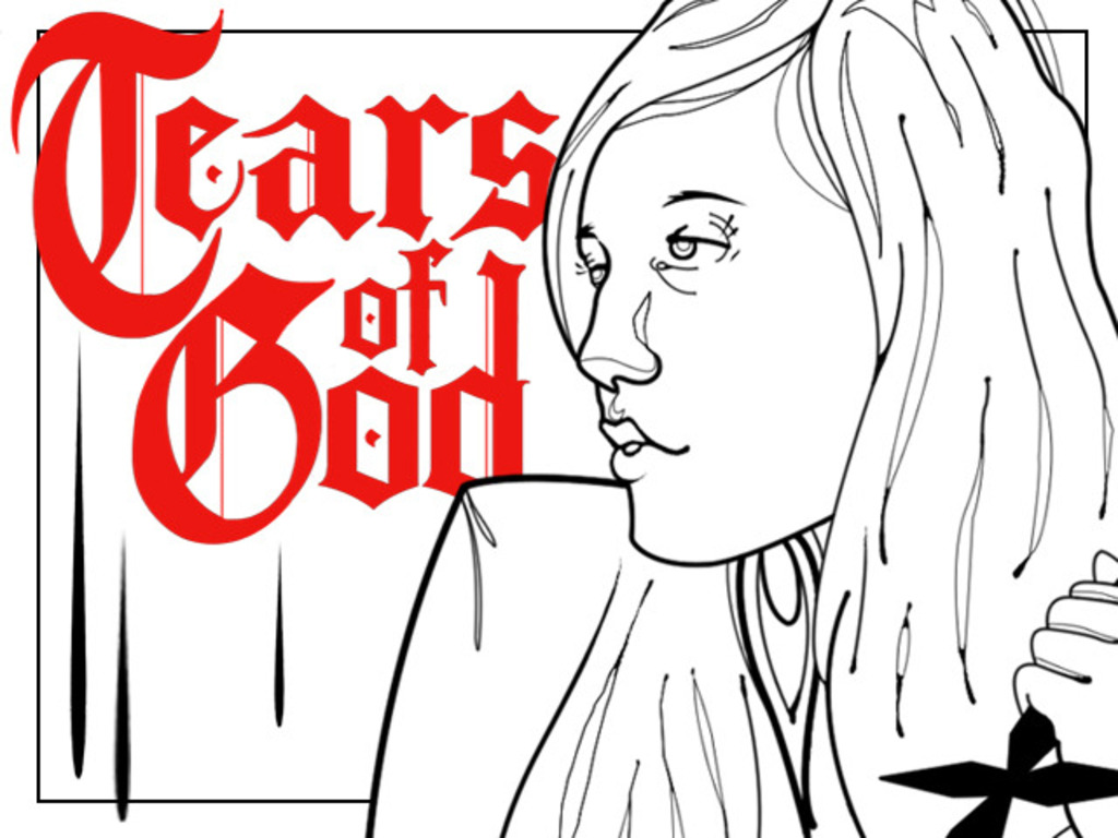 TEARS OF GOD / a horror film's video poster