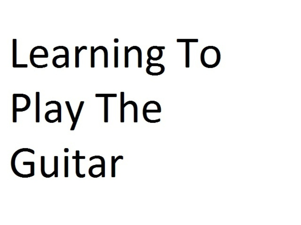 Learning To Play The Guitar (Canceled)'s video poster