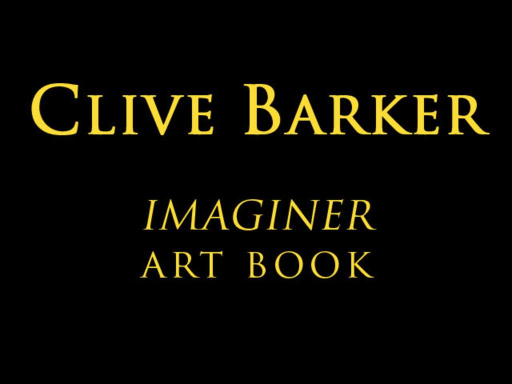 CLIVE BARKER: IMAGINER Deluxe Hardcover Art Book.'s video poster