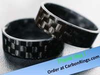 Carbon Fiber Jewelry Rings (Sizes 6-13!)